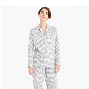 J.Crew Vintage Pajama set in Gingham Flannel